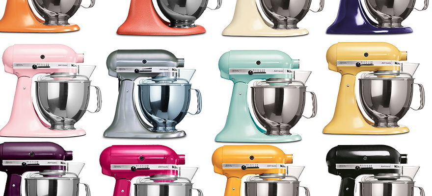 robots de couleur kitchenAid