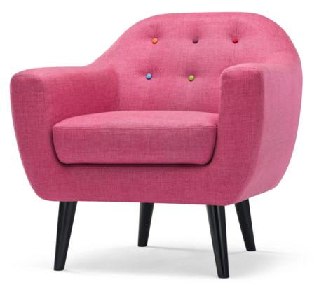 fauteuil rose ritchie made