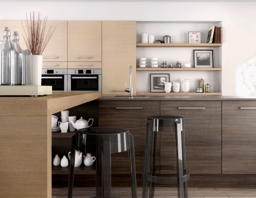 une cuisine moderne en bois c est possible le blog d. Black Bedroom Furniture Sets. Home Design Ideas