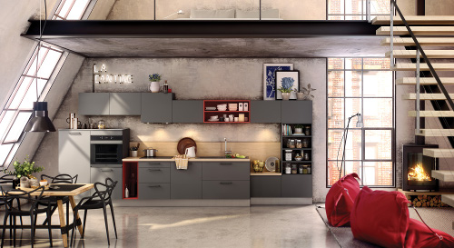 5 cuisines esprit loft inspirantes le blog d 39 arthur bonnet. Black Bedroom Furniture Sets. Home Design Ideas